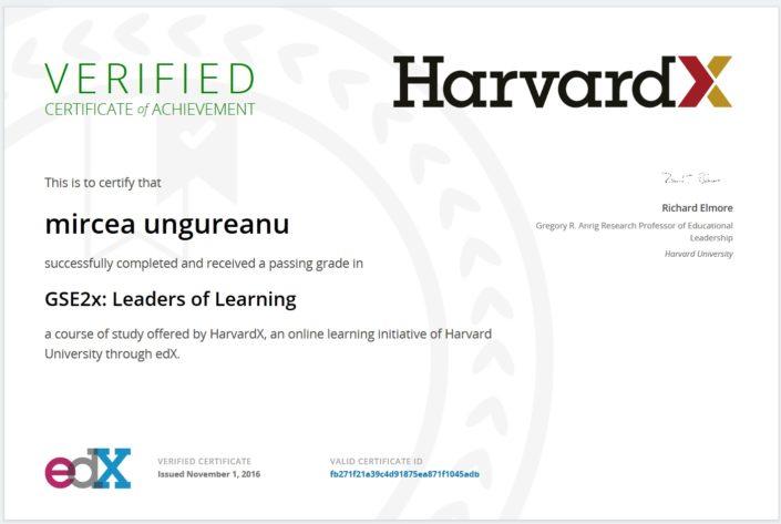 Certificat Harvard